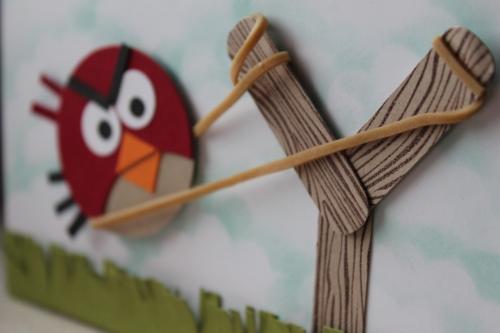 Grußkarte Angy Birds, benutzt wurden verschiedene Kreisstanzen und das Stempelset Perfekt Pärchen, Bild3, gebastelt mit Produkten, Stempeln und Stanzen von Stampin\' Up!