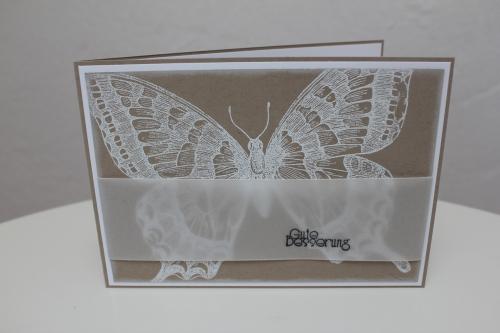 Grußkarte mit dem Schmetterlingsstempel