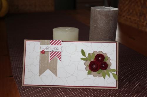 Karte zur Hochzeit, mit Röschen und dem Stempelset Hearts a Flutter, Bild1, gebastelt mit Produkten, Stempeln und Stanzen von Stampin\' Up!