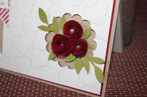 Karte zur Hochzeit, mit Röschen und dem Stempelset Hearts a Flutter, Bild2, gebastelt mit Produkten, Stempeln und Stanzen von Stampin\' Up!