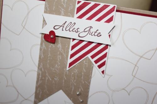 Karte zur Hochzeit, mit Röschen und dem Stempelset Hearts a Flutter, Bild3, gebastelt mit Produkten, Stempeln und Stanzen von Stampin\' Up!