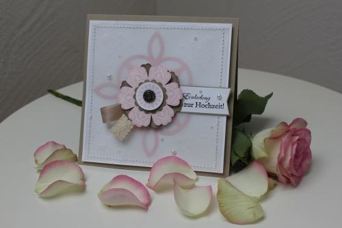 Hochzeitsset1, benutzt wurde das Stempelset Mixed Bunch und die Blumenstanze, Bild2, gebastelt mit Produkten, Stanzen und Stempeln von Stampin\' Up!