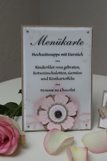 Hochzeitsset1, benutzt wurde das Stempelset Mixed Bunch und die Blumenstanze, Bild5, gebastelt mit Produkten, Stanzen und Stempeln von Stampin\' Up!