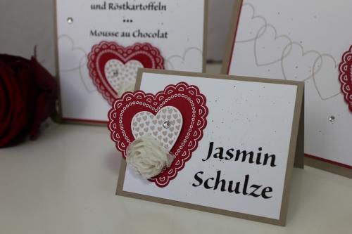 Hochzeitsset2, benutzt wurde das Stempelset Hearts a Flutter und die Heats a Flutter Framelits, Bild5, gebastelt mit Produkten, Stanzen und Stempeln von Stampin\' Up!