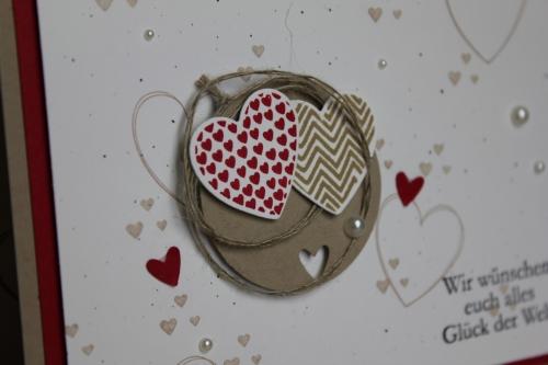 Hochzeitskarte, Bild2, gebastelt mit Produkten, Stanzen und Stempeln von Stampin\' Up!