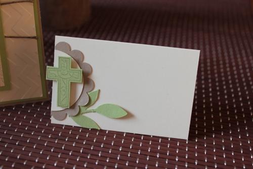 Einladung Konfirmation/Kommunion und Tischdeko, benutzt wurde das Stempelset