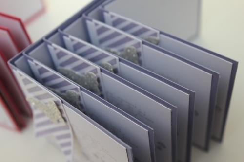 Danksagungskarten, benutzt wurde das Stempelset