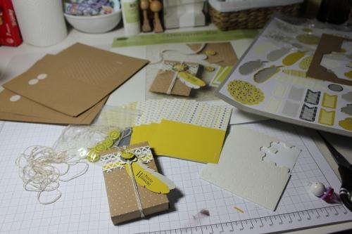 Designerdruck- Set Schachtelgrüße, Bild1, gebastelt mit Produkten, Stanzen und Stempeln von Stampin\' Up!