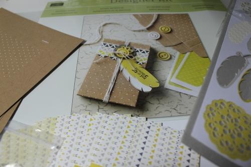 Designerdruck- Set Schachtelgrüße, Bild2, gebastelt mit Produkten, Stanzen und Stempeln von Stampin\' Up!