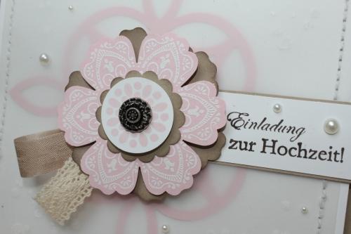 Hochzeitsset1, benutzt wurde das Stempelset Mixed Bunch und die Blumenstanze, Bild3, gebastelt mit Produkten, Stanzen und Stempeln von Stampin\' Up!