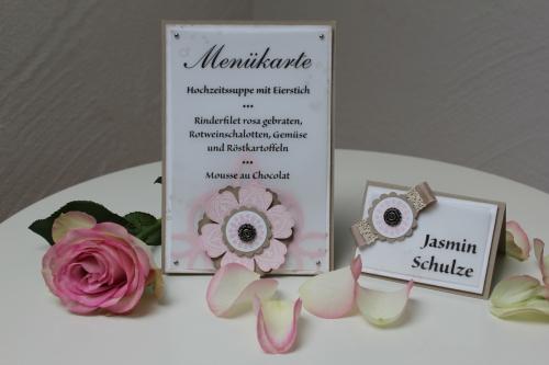 Hochzeitsset1, benutzt wurde das Stempelset Mixed Bunch und die Blumenstanze, Bild4, gebastelt mit Produkten, Stanzen und Stempeln von Stampin\' Up!