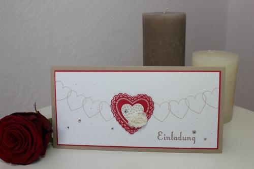 Hochzeitsset2, benutzt wurde das Stempelset Hearts a Flutter und die Heats a Flutter Framelits, Bild2, gebastelt mit Produkten, Stanzen und Stempeln von Stampin\' Up!