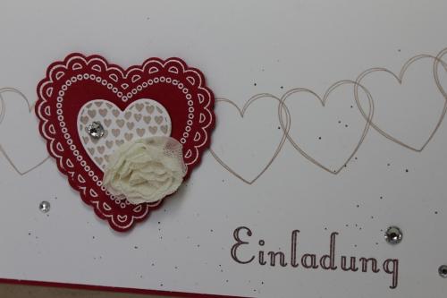 Hochzeitsset2, benutzt wurde das Stempelset Hearts a Flutter und die Heats a Flutter Framelits, Bild3, gebastelt mit Produkten, Stanzen und Stempeln von Stampin\' Up!