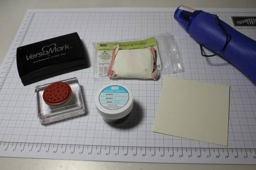 Schritt für Schritt Anleitung Embossen, Bild 1, gebastelt mit Produkten, Stanzen und Stempeln von Stampin\' Up!