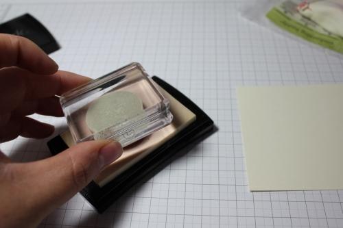 Schritt für Schritt Anleitung Embossen, Bild 3, gebastelt mit Produkten, Stanzen und Stempeln von Stampin\' Up!