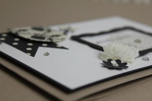 Grußkarte Schwarz Weiß, Bild3, gebastelt mit Produkten, Stanzen und Stempeln von Stampin\' Up!