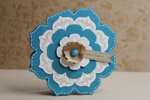 Grußkarte Blütenrahmen, Bild1, gebastelt mit Produkten, Stanzen und Stempeln von Stampin\' Up!