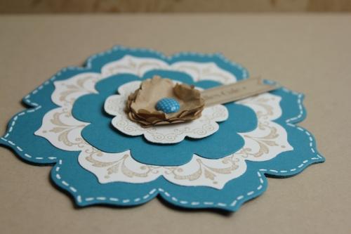 Grußkarte Blütenrahmen, Bild2, gebastelt mit Produkten, Stanzen und Stempeln von Stampin\' Up!