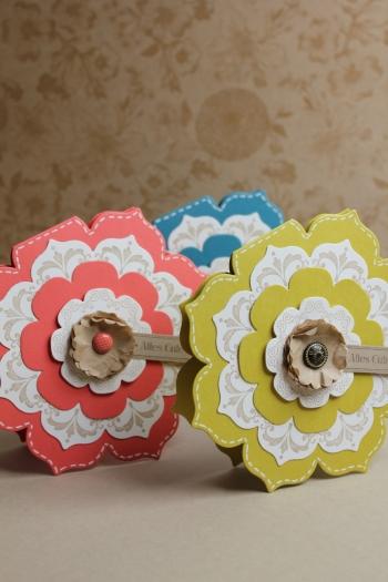 Grußkarte Blütenrahmen, Bild3, gebastelt mit Produkten, Stanzen und Stempeln von Stampin\' Up!