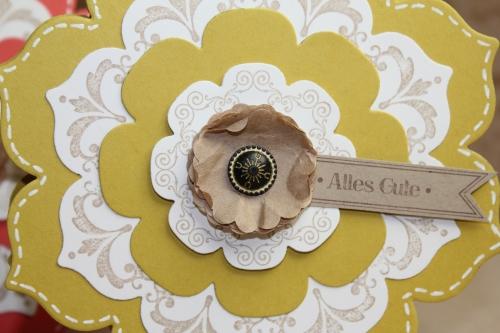 Grußkarte Blütenrahmen, Bild4, gebastelt mit Produkten, Stanzen und Stempeln von Stampin\' Up!