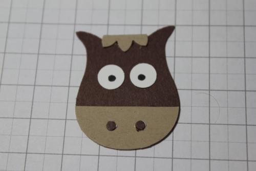 Punch Art Pferd/Horse, Bild7, gebastelt mit Produkten, Stanzen und Stempeln von Stampin\' Up!