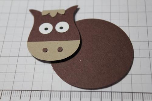 Punch Art Pferd/Horse, Bild8, gebastelt mit Produkten, Stanzen und Stempeln von Stampin\' Up!