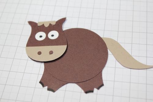Punch Art Pferd/Horse, Bild9, gebastelt mit Produkten, Stanzen und Stempeln von Stampin\' Up!