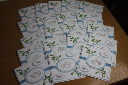 Taufkarten Nino, Bild1, gebastelt mit Produkten, Stanzen und Stempeln von Stampin\' Up!