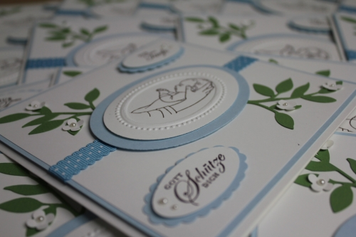 Taufkarten Nino, Bild3, gebastelt mit Produkten, Stanzen und Stempeln von Stampin\' Up!