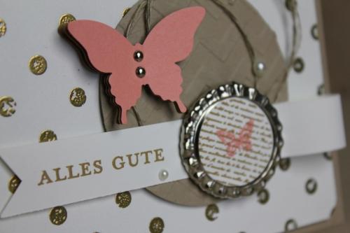 Geburtstagskarte Distressed Dots, Bild2, gebastelt mit Produkten, Stanzen und Stempeln von Stampin\' Up!