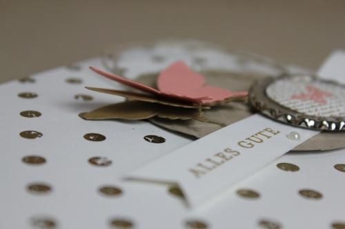 Geburtstagskarte Distressed Dots, Bild3, gebastelt mit Produkten, Stanzen und Stempeln von Stampin\' Up!