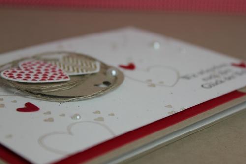 Hochzeitskarte, Bild3, gebastelt mit Produkten, Stanzen und Stempeln von Stampin\' Up!