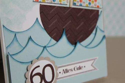 Geburtstagskarte Segelschiff, Bild2, gebastelt mit Produkten, Stanzen und Stempeln von Stampin\' Up!