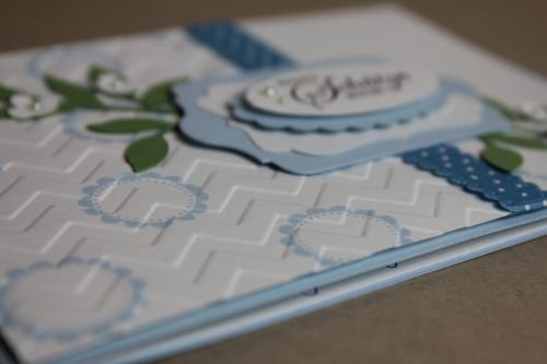 Karte zur Taufe, Bild1, gebastelt mit Produkten, Stanzen und Stempeln von Stampin\' Up!