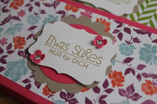 Schokoladenverpackungen Teil 2, Bild2, gebastelt mit Produkten, Stanzen und Stempeln von Stampin\' Up!