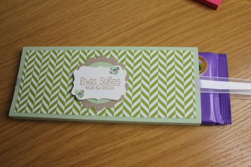 Schokoladenverpackungen Teil 2, Bild3, gebastelt mit Produkten, Stanzen und Stempeln von Stampin\' Up!