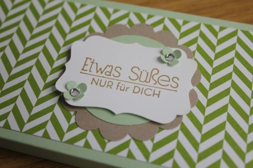 Schokoladenverpackungen Teil 2, Bild4, gebastelt mit Produkten, Stanzen und Stempeln von Stampin\' Up!