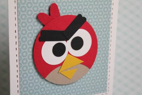 Angry Birds Geburtstagseinladung, Bild 2, gebastelt mit Produkten, Stanzen und Stempeln von Stampin\' Up!