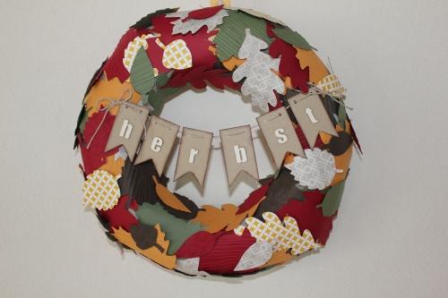 Herbstkranz, Bild1, gebastelt mit Produkten von Stampin\' Up!