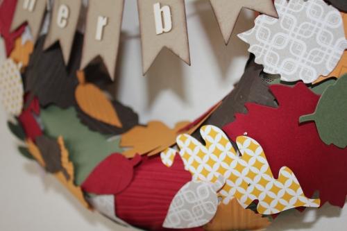 Herbstkranz, Bild4, gebastelt mit Produkten von Stampin\' Up!