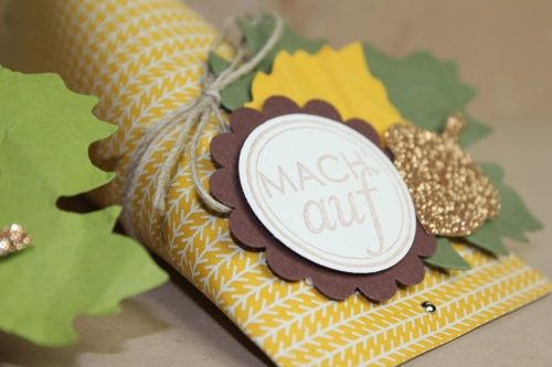 Herbstliche Geschenkverpackung, Bild2, gebastelt mit Produkten von Stampin\' Up!