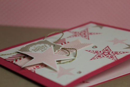 Babykarte Simply Star, Bild 3, gebastelt mit Produkten von Stampin\' Up!