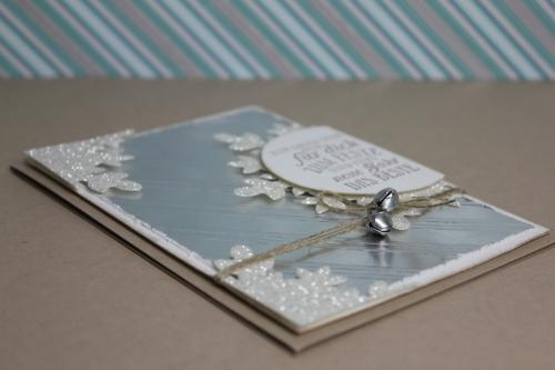 Weihnachtskarte Silber, Bild3, gebastelt mit Produkten von Stampin\' Up!