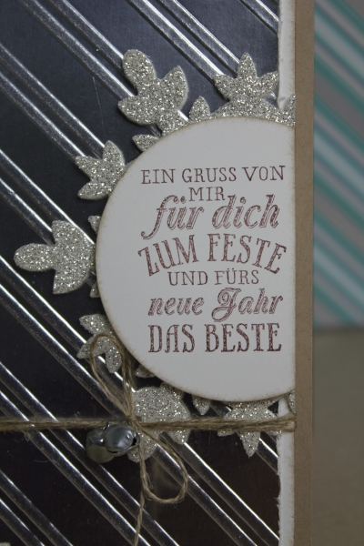 Weihnachtskarte Silber, Bild2 gebastelt mit Produkten von Stampin\' Up!