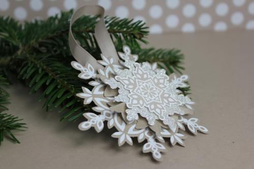 Weihnachtsbaumschmuck, Bild 1, gebastelt mit Produkten von Stampin\' Up!