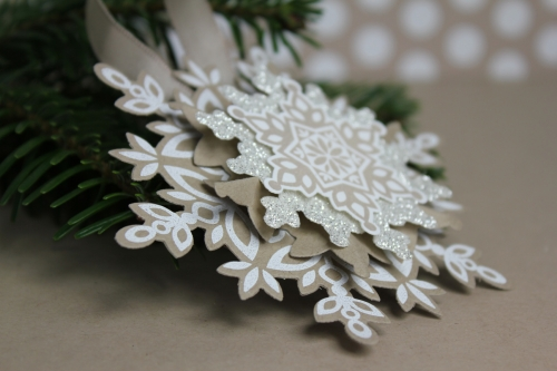 Weihnachtsbaumschmuck, Bild2 , gebastelt mit Produkten von Stampin\' Up!