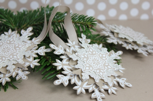 Weihnachtsbaumschmuck, Bild 3, gebastelt mit Produkten von Stampin\' Up!