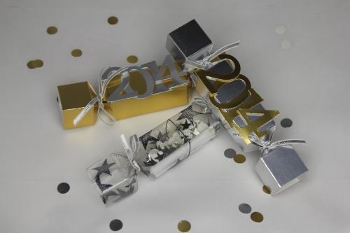 Silvester-Deko, Bild1, gebastelt mit Produkten von Stampin\' Up!