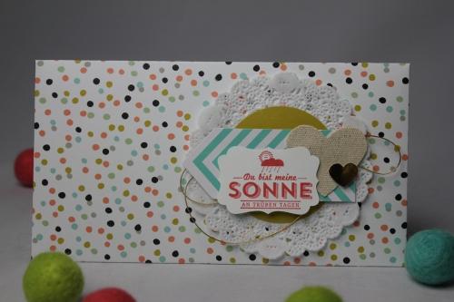 Briefumschlag dekoriert SAB, Bild1, bastelt mit Produkten von Stampin\' Up!