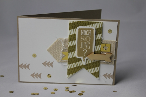 Geburtstagskarte Pfeile, Bild1, gebastelt mit Produkten von Stampin\' Up!